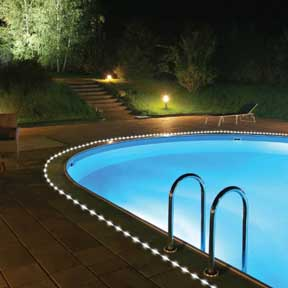 solar-rope-lights-pool-043014 & 11 Creative Ways To Use Rope Lighting In The Garden azcodes.com