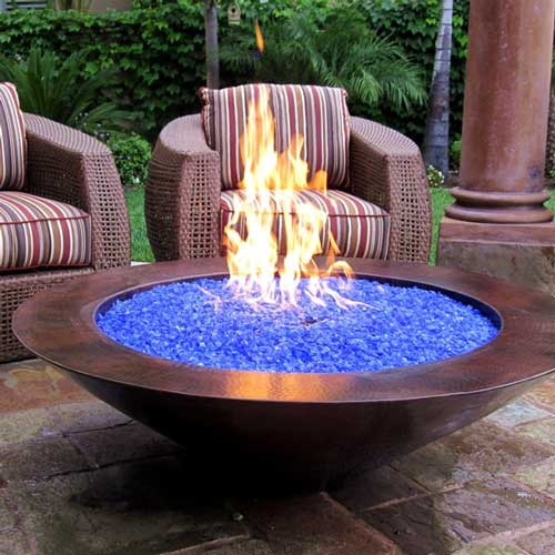fire-glass-bowl-patio - Fire Glass - No Smoke Odor Or Ashes And Plenty Of Style