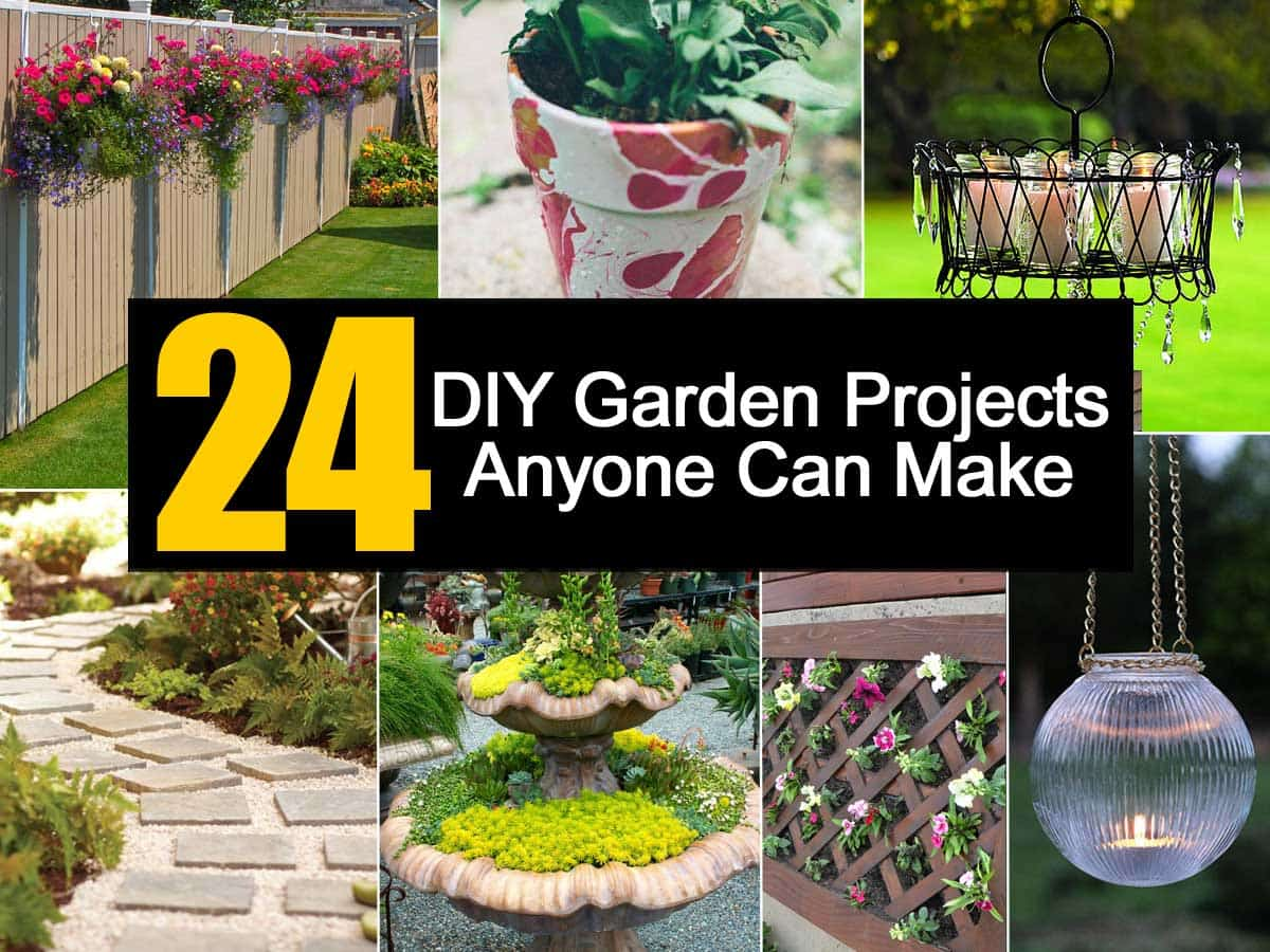 24 diy garden projects anyone can make for Ideas for your garden