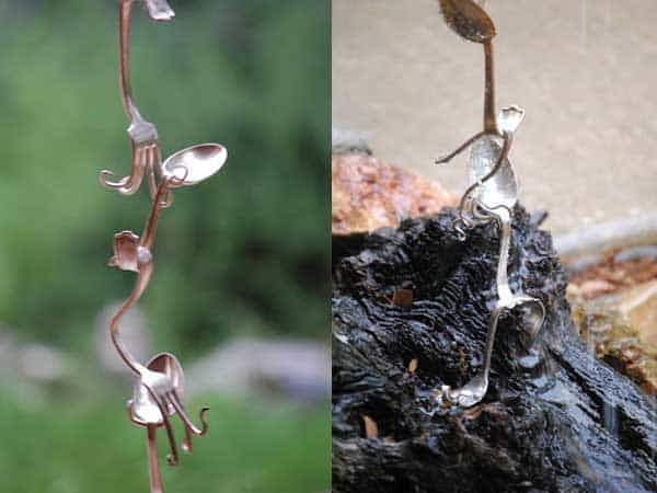 How To Make A Beautiful Rain Chain Fork-spoon-rain-chain