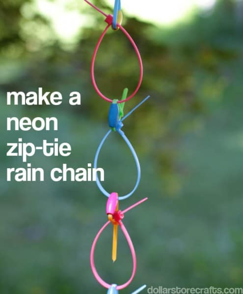 How To Make A Beautiful Rain Chain Make-a-neon-ziptie-rainchain-495x599