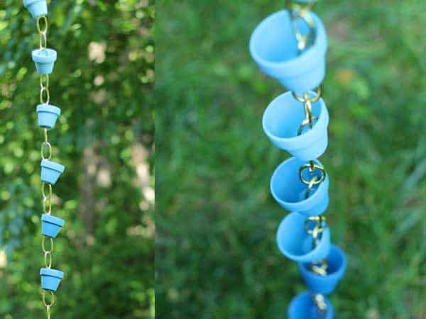 How To Make A Beautiful Rain Chain Rain-chain-blue