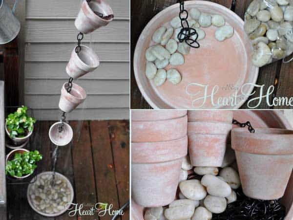 How To Make A Beautiful Rain Chain Rain-chain-heart-home