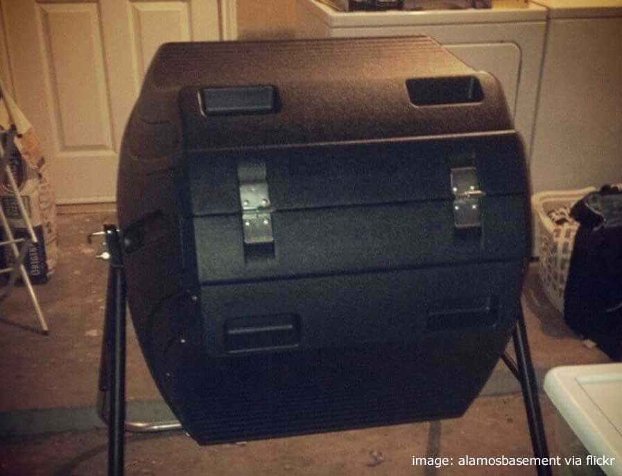 New tumbler composter ready to go - via alamosbasement