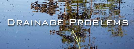 11 drainage problems on small landscapes for Drainage problems